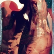 Studio 1975, Paint, Slides and Velvet Underground.  Scanned Eketachrome